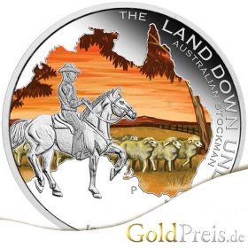 The Land Down Under  Great Barrier Reef PP Coloriert - 31,10 g - 1 oz Silber