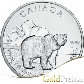 Canadian Wildlife Antilope 2013 - 31,10 g - 1 oz Silber
