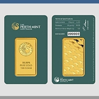 Goldbarren LBMA zertifiziert Perth Mint - 100 g Gold