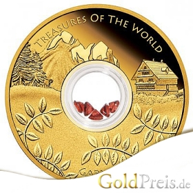 Treasures of the World Turquoise 2015 PP - 31,10 g - 1 oz Gold