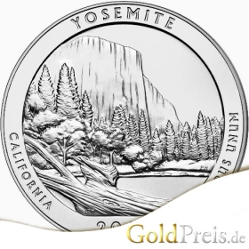 America the Beautiful Great Smoky Mountains 2014 - 155,52 g - 5 oz Silber