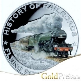 History of Railroads Flying Scotsman 2011 PP Coloriert - 20 g - 5 Dollar Silber