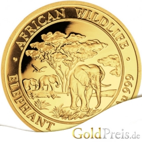 African Wildlife Elefant 2017 - 3,11 g - 1/10 oz Gold