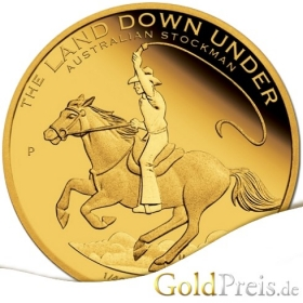 The Land Down Under Surfing 2013 PP - 7,78 g - 1/4 oz Gold