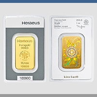 Kinebar Goldbarren Heraeus - 31,10 g - 1 oz Gold