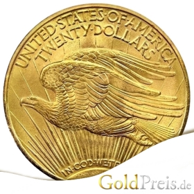 St. Gaudens Double Eagle - 30,09 g - 20 Dollar Gold