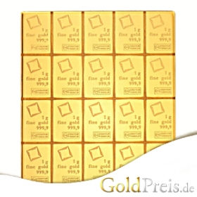 Goldtafel - 5 x 1 g Gold