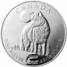Canadian Wildlife Wolf - 31,10 g - 1 oz Silber