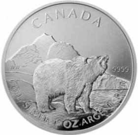Canadian Wildlife Grizzly - 31,10 g - 1 oz Silber