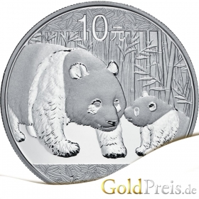 China Panda 1989 PP - 373,24 g - 12 oz Silber