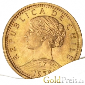 Pesos (Chile) - 18,31 g - 100 Pesos Gold