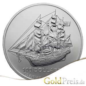Cook Islands Platinmünze 1 oz