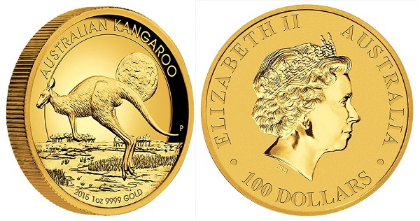 Australian Kangaroo Gold 1 oz High Relief
