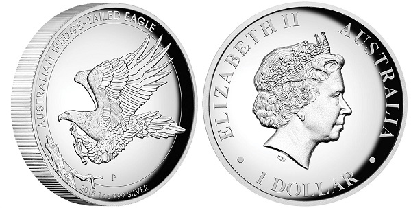 Australian Wedge-Tailed Silber Eagle High Relief 1 oz