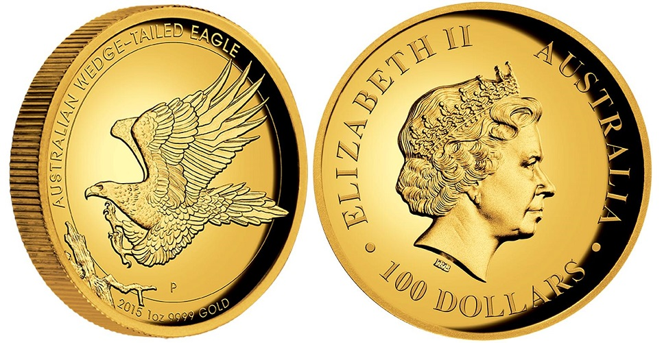 Australian Wedge-Tailed Eagle High Relief 1 oz
