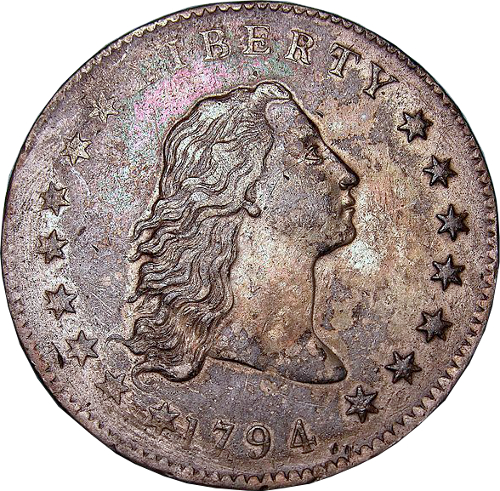 Flowing Hair Silver Dollar von 1794