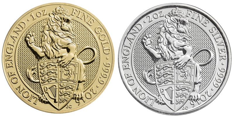The Queen's Beats, Lion of England in Gold und Silber