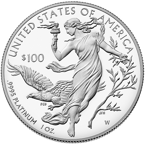 American Eagle Platinmünze Proof, Rückseite